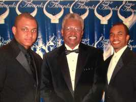 Assignment editor Kendal Francis with his father and brother