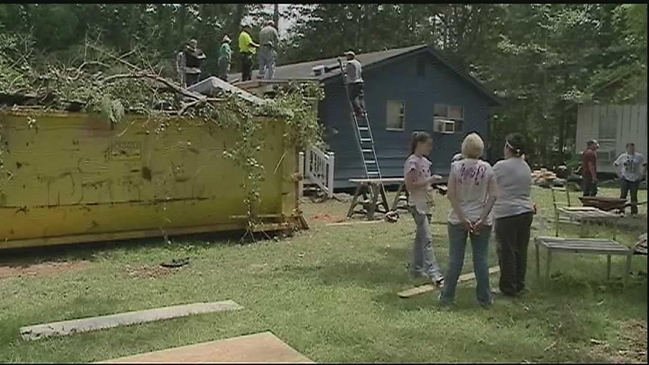 World Changers build homes in summer heat