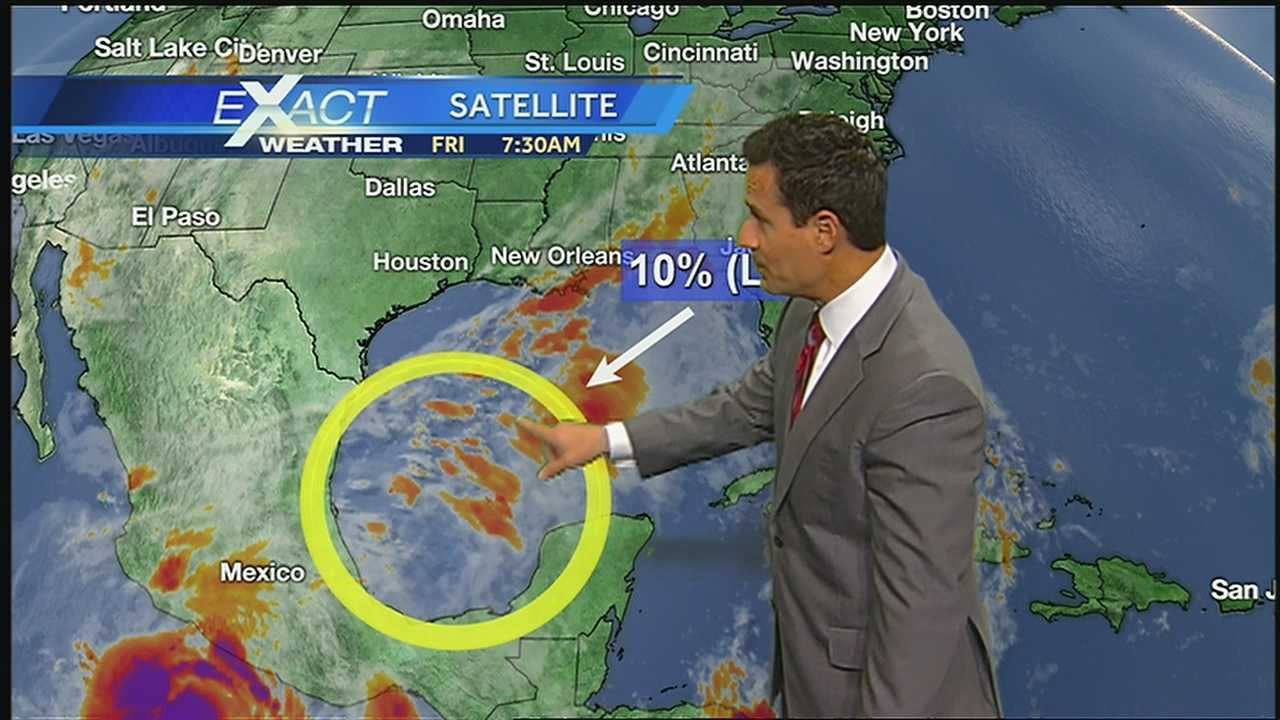 WDSU Exact Weather Meteorologist Jay Galle has a look at the latest development in the tropics.