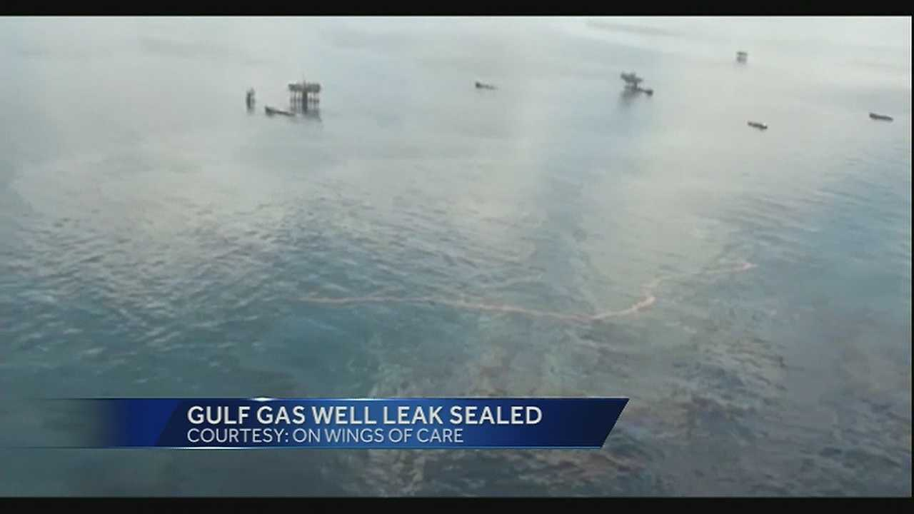 A gas well that started leaking several days ago in the Gulf of Mexico off the Louisiana coast has been sealed.