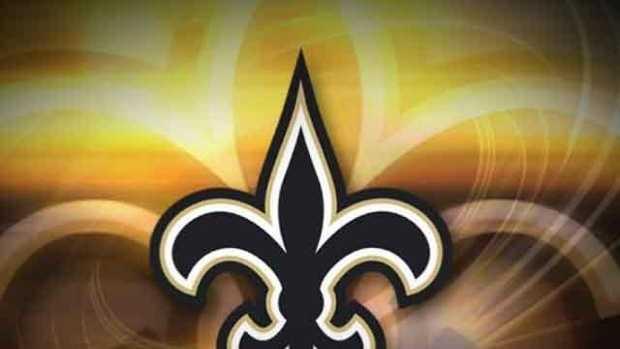 Saints logo (New Saints caption)