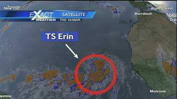 Across the Atlantic, near Africa, Tropical Storm Erin formed Thursday morning.Click here to download our Hurricane Central app: iPhone | Android | Get email alerts