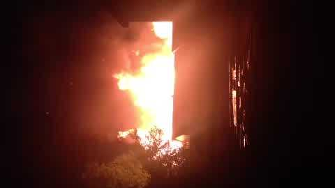 Raw video: 3-alarm fire in Gert Town