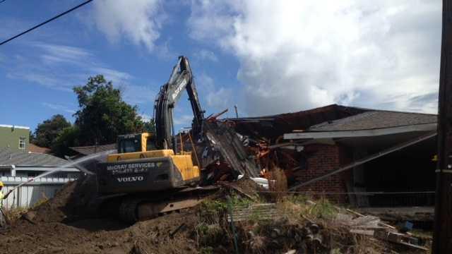 New Orleans home demolished 082313.JPG