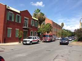 New Orleans police said hazmat crews were requested to investigate bottles discovered at the Covenant House near the French Quarter on Friday.