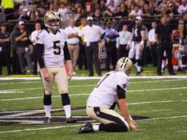K Garrett HartleyNew Orleans' kicker made all three of his attempts. He connected from 48, 31 and 22 yards out.