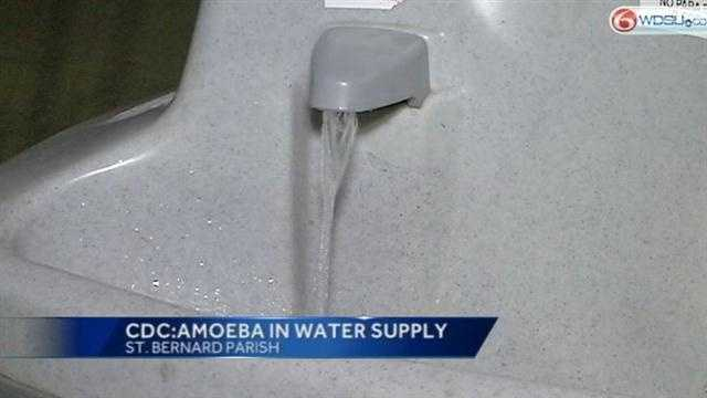 The Centers for Disease Control confirms the St. Bernard Parish Water supply tested positive for brain-eating amoeba.