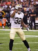 S Kenny VaccaroStepping into a full-time safety roll with Roman Harper missing the game with a knee injury, Kenny Vaccaro made seven stops, six solo, and intercepted Palmer. Fellow first-year Saint Kennan Lewis also picked off Palmer in the fourth quarter.
