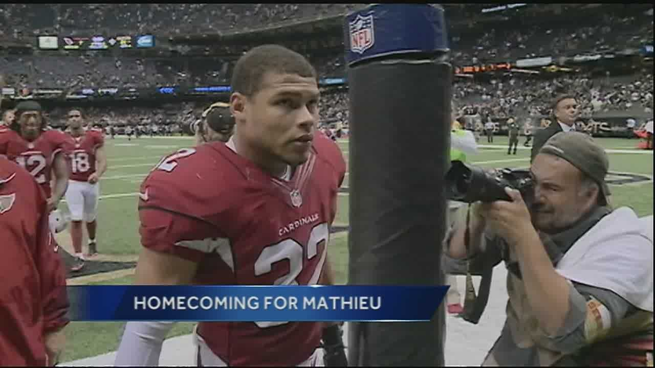 New Orleans native Tyrann Mathieu makes first-career pick vs. Saints
