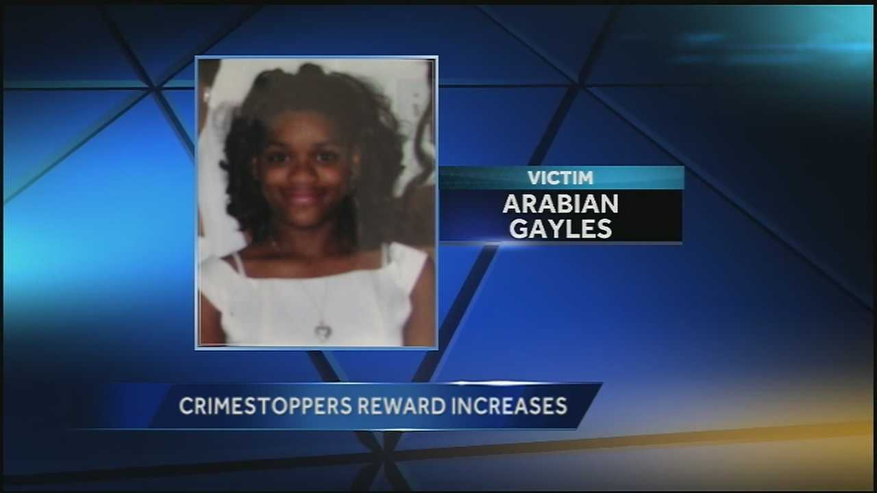 Crimestoppers increased the reward in the investigation of the death of an 11-year-old girl from $5,000 to $12,500.