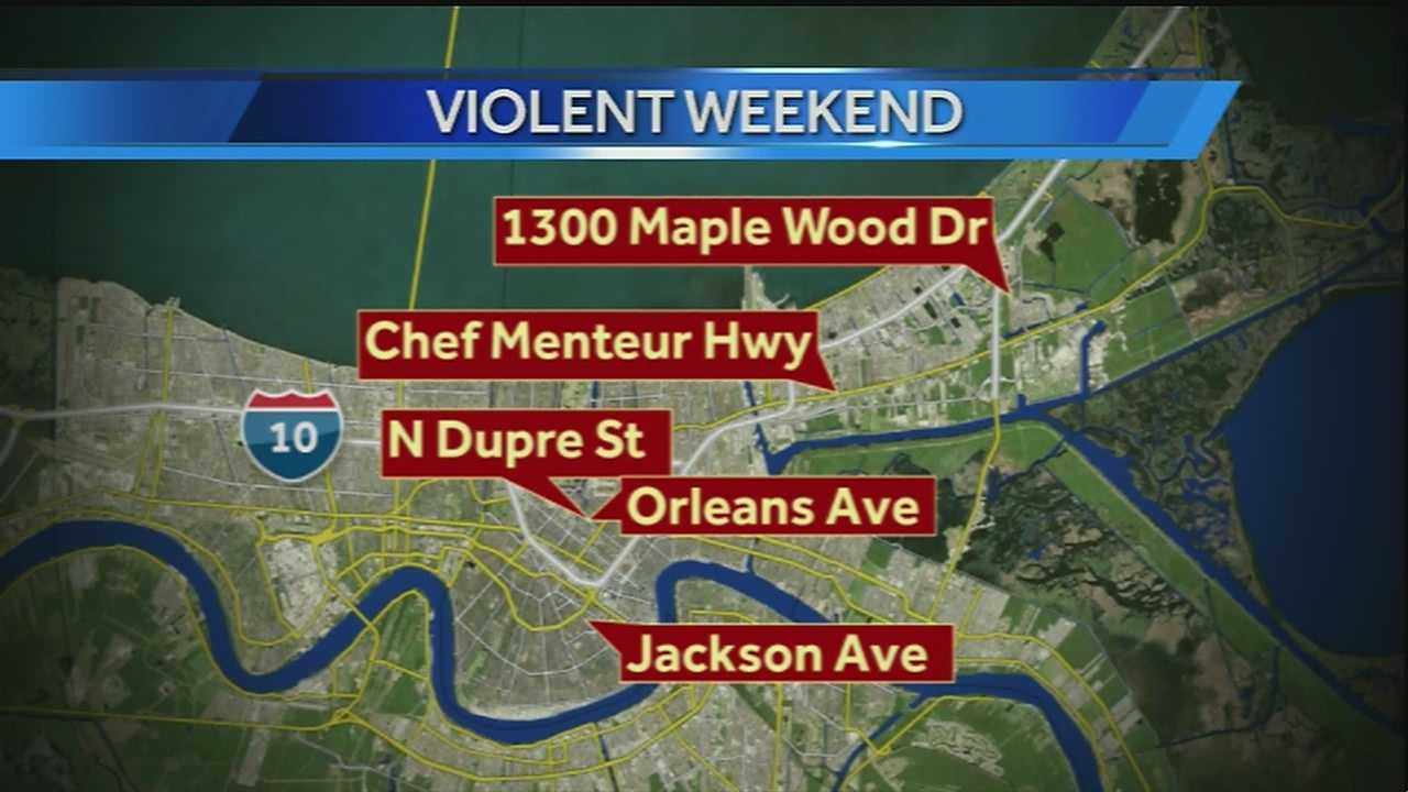 NOPD investigating five shootings