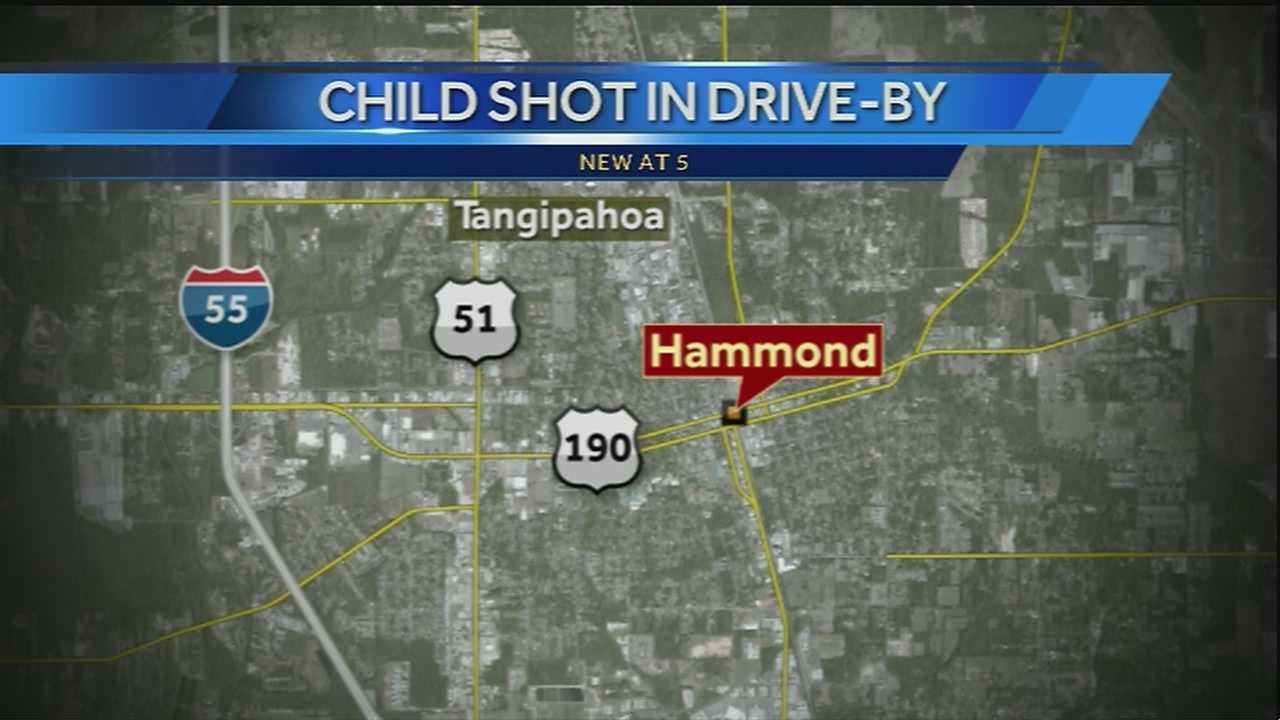 A 7-year-old boy was injured in a drive by shooting in Hammond on Wednesday night, police said.