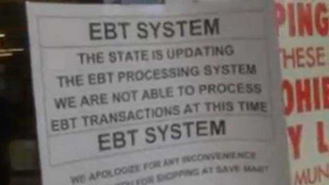 EBT system goes down