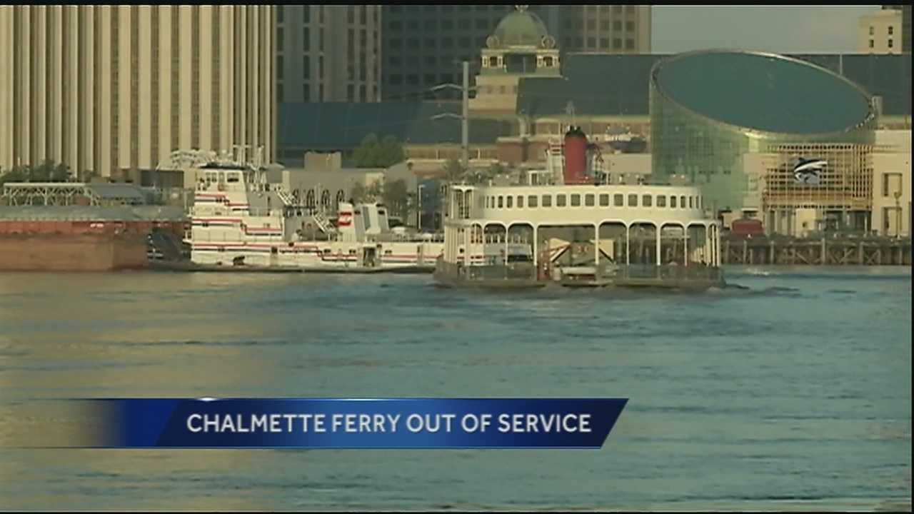 Lower Algiers Chalmette ferry out of service