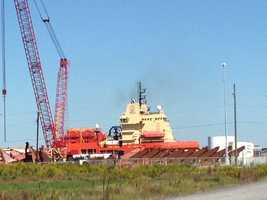 Photo: The shipping yard for many of Edison Chouest Offshore's vessels is located in Port Fourchon. The C-Retriever has its homeport in Galliano, La.