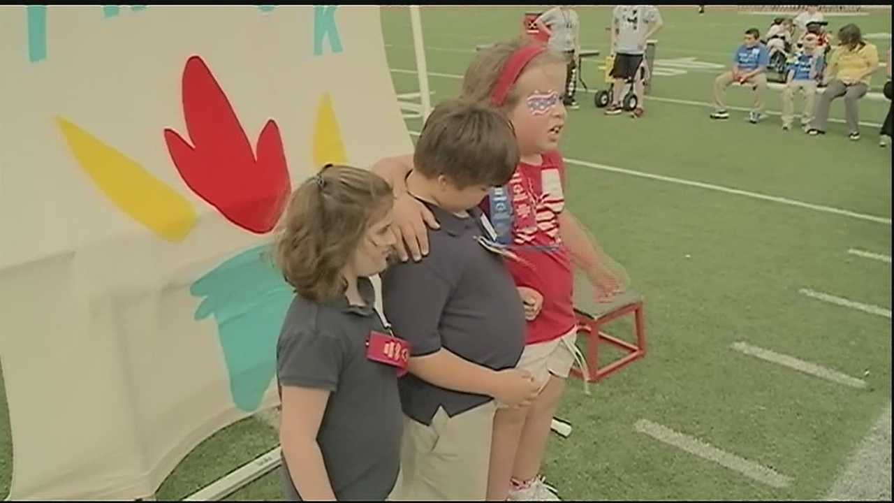 Competition was fierce Wednesday morning at the St. Tammany Middle School Special Olympics as athletes competed in the spirited contest.