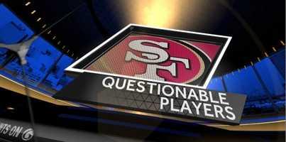 Questionable: (All active)Saints:None49ers:TE Vernon Davis (concussion)WR Mario Manningham (knee)RB Bruce Miller (hamstring)S Eric Reid (concussion)LB Dan Skuta (foot)