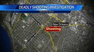 According to police, a shooting was reported about 10:45 a.m. near the intersection of South Claiborne and South Carrollton avenues.