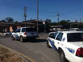 It wasn't immediately clear who the victim was at the scene of the shooting.