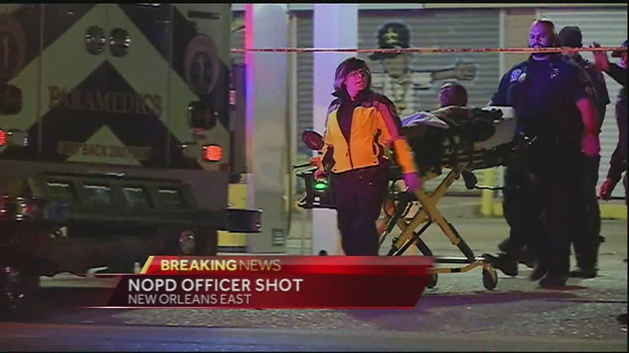 Nopd officer shot while attempting to arrest a suspect