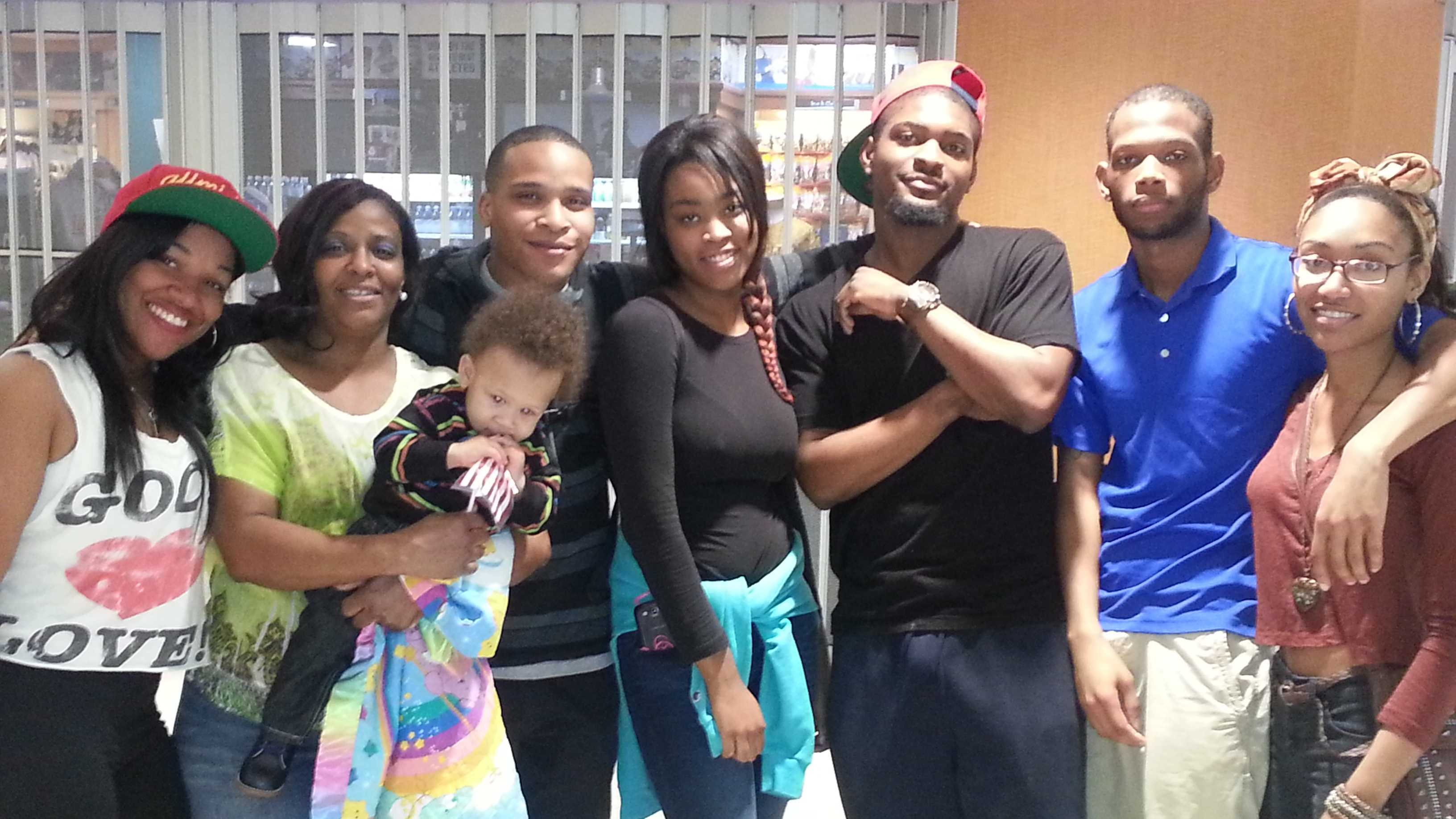 Thursday night, Pfc. Raheim Daniels of New Orleans returned home and greeted his wife, 6-month-old son, mom, sisters and friends.