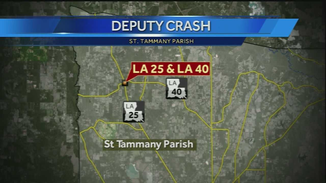 Deputy in critical condition after crash in St. Tammany Parish