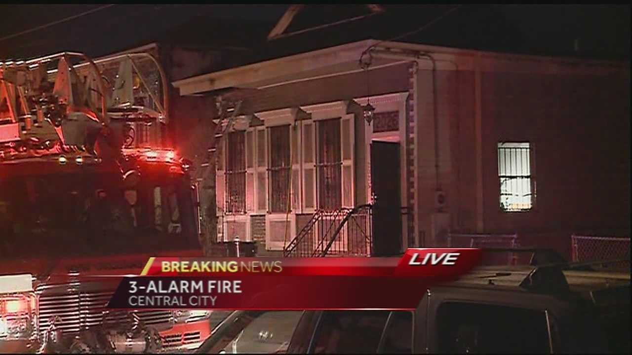 NOFD working a 3-alarm fire in Central City neighborhood
