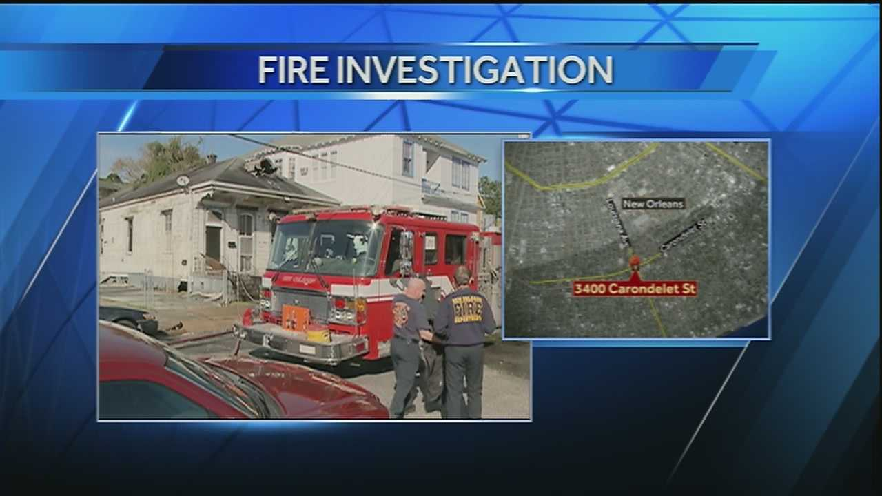 New Orleans firefighters battled a two-alarm fire in the Uptown neighborhood on Thursday afternoon.