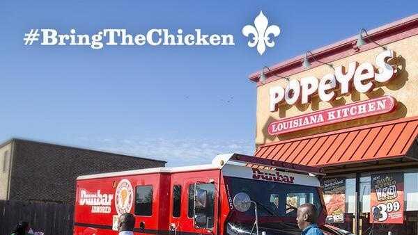 Popeyes chicken tweet photo