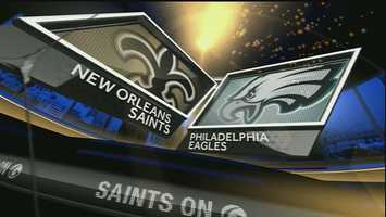 Wild Card playoff – Saints 25, Eagles 23Behind the rushing of Mark Ingram and a time-expiring field goal from Shayne Graham, the Saints won their first road game in playoff history over the Eagles.Ingram rushed for 97 yards and a touchdown.Despite surrendering two second-half passing touchdowns from Nick Foles, New Orleans' defense minimized the damage by keeping LeSean McCoy to just 77 rushing yards and 15 receiving yards.Drew Brees threw a pair of picks for the fifth time on the road this season, but he hit Lance Moore for a touchdown and made good calls at the line to rush the ball in the right places.