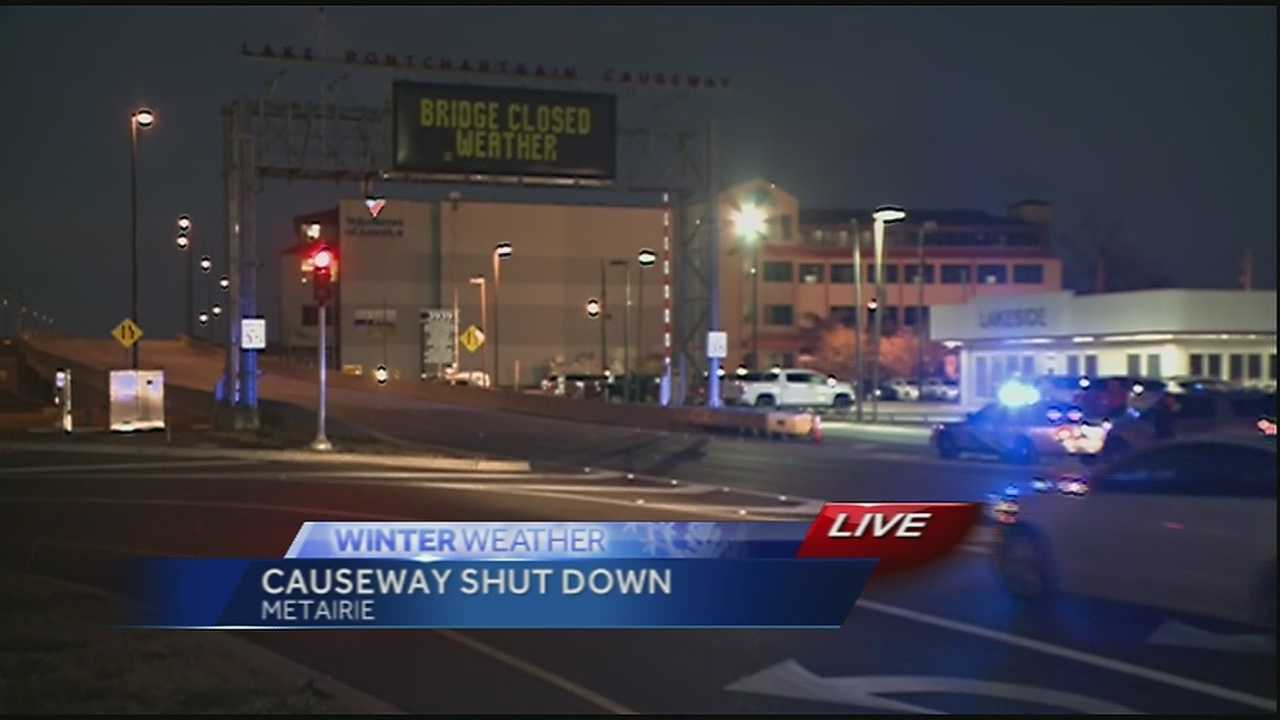 Causeway closed after partial reopening