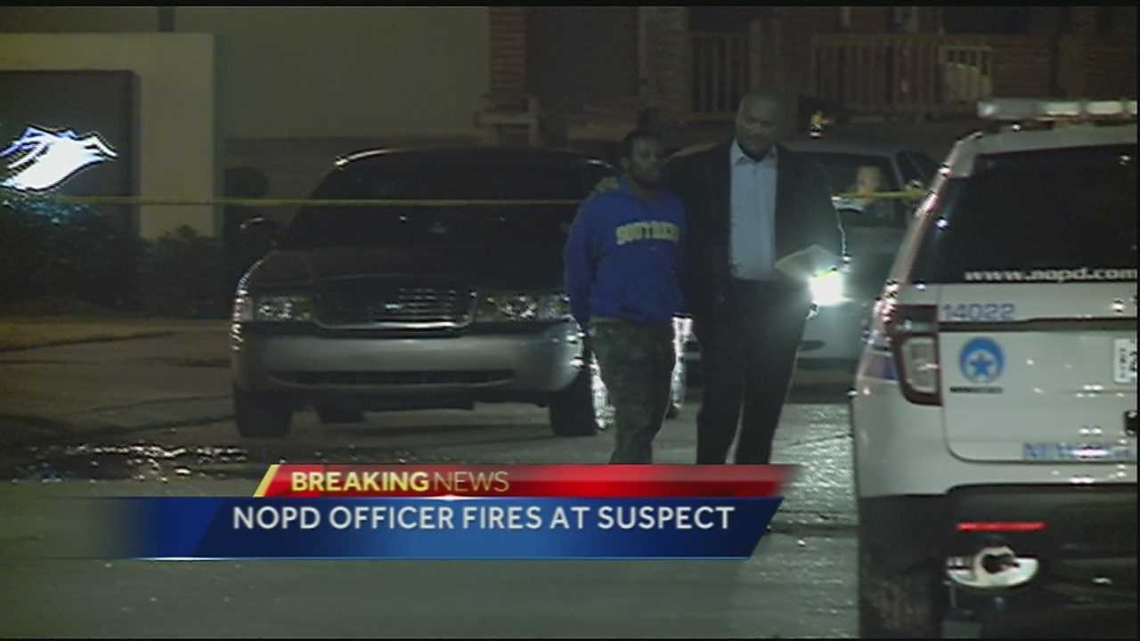 NOPD officer fires gun at suspect