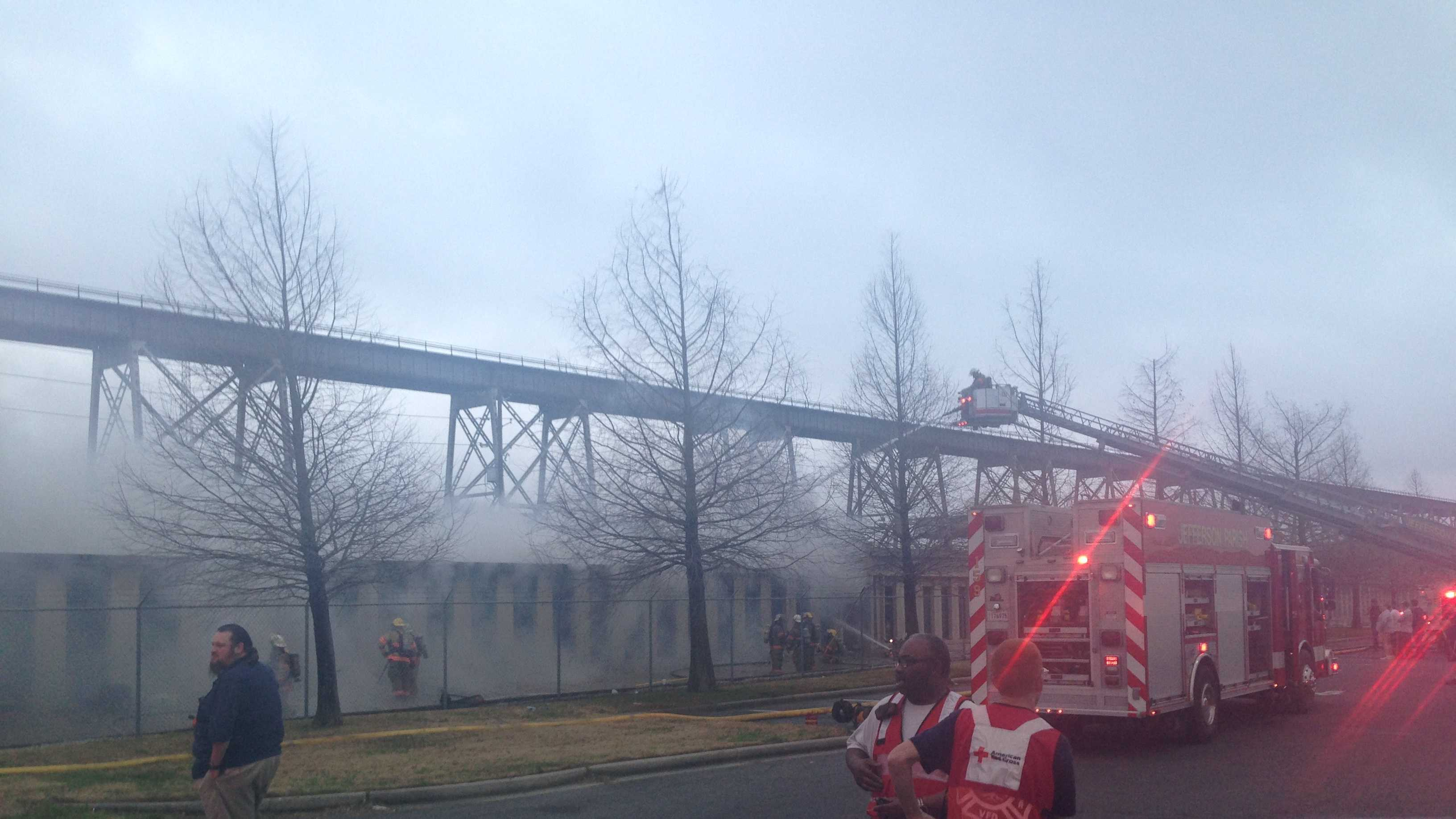 Huey P Bridge structure fire 1.JPG