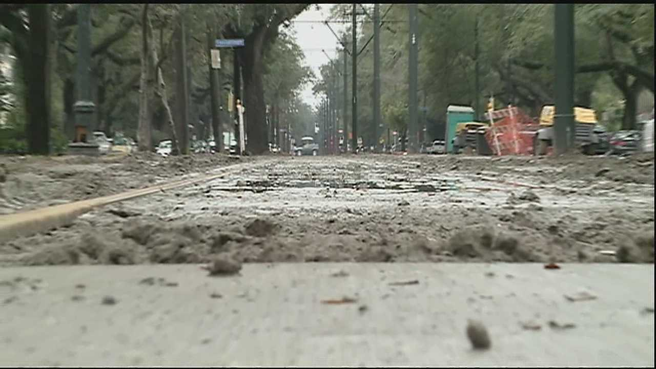 City construction temporarily stops due to weather, Mardi Gras