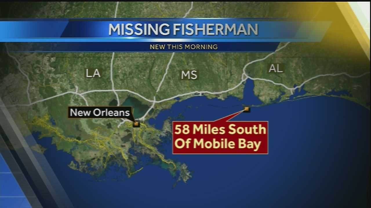 Coast Guard searches for missing fisherman off the coast of Alabama