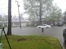 Location: Street Flooding in Slidell