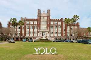 According to a news release, Loyola said students donated a permanent fixture of YOLO to be place on the front lawn. No more Loyola letters -- just YOLO.