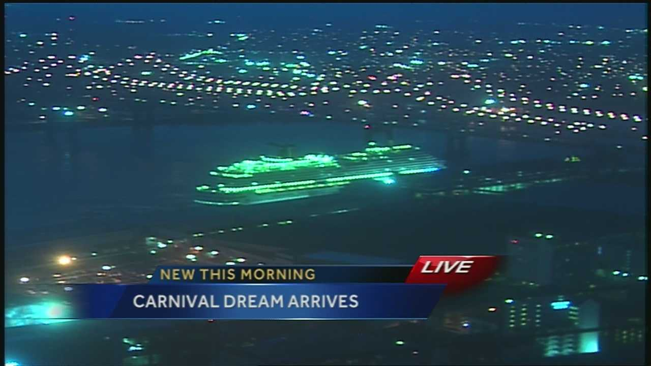 Carnival Dream arrives in New Orleans