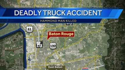 BR truck crash kills Hammond man