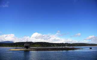BANGOR, Wash. (April 22, 2014) The USS Louisiana (SSBN 743) Blue Crew returns home to Naval Base Kitsap-Bangor following a strategic deterrent patrol.