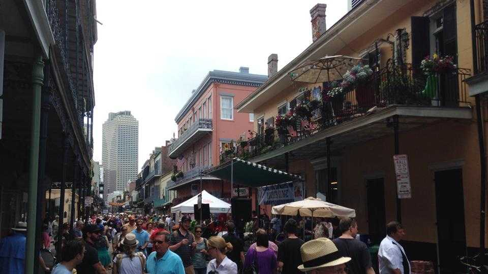 French Quarter Fest on Royal Street