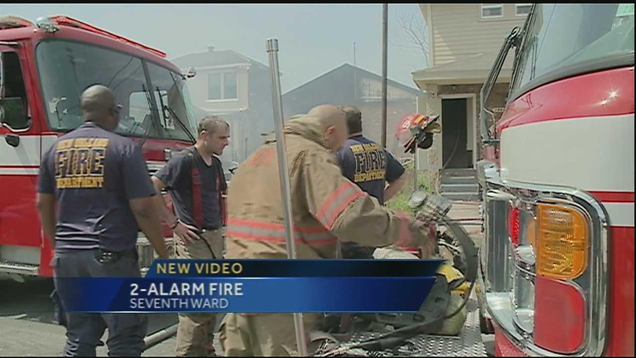 New Video: Firefighters battle 2-alarm fire in Seventh Ward