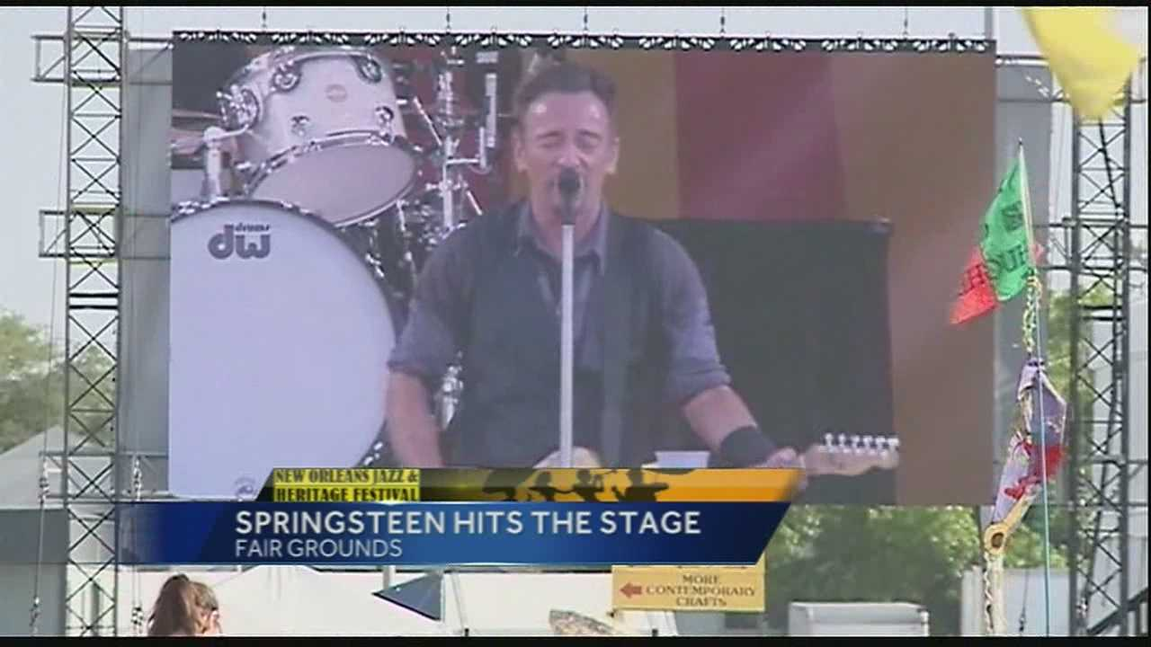 Bruce Springsteen at 2014 Jazz Fest