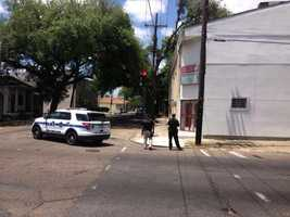 New Orleans police and its Gang Unit were at the scene of a situation unfolding Tuesday in Central City.