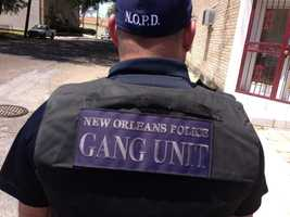 The NOPD Gang Unit with a dozen officers are near Jackson Avenue and S. Saratoga.