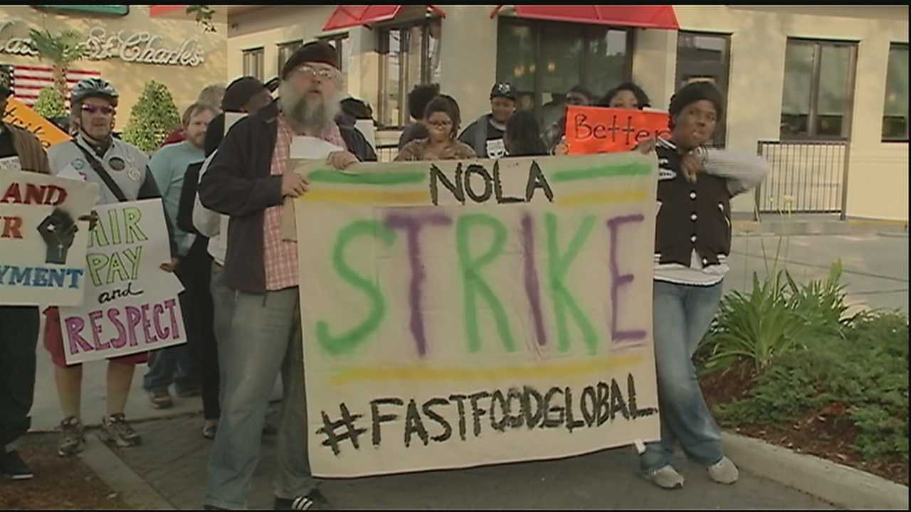 Fast-food workers protest for wage hike
