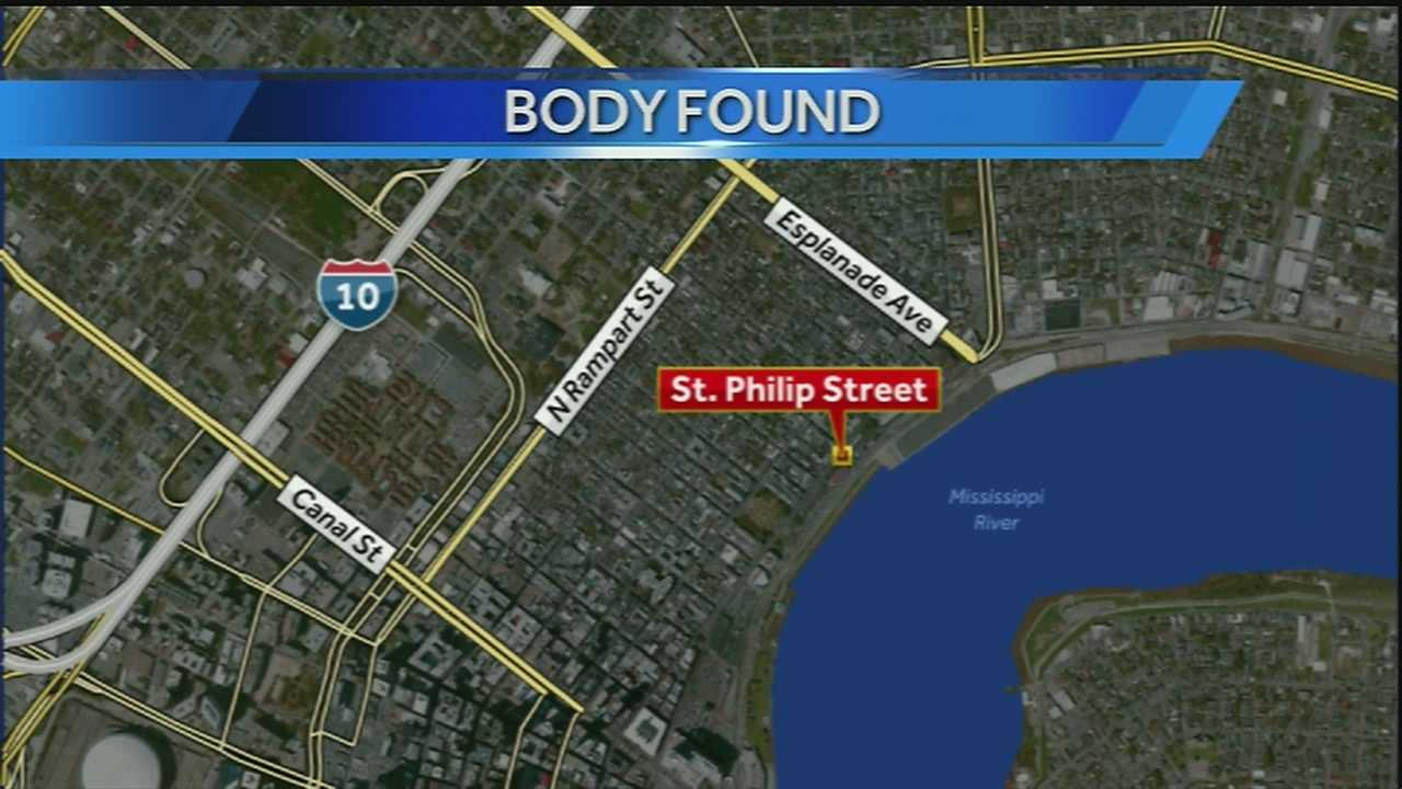 New Orleans police said a body was found in the Mississippi River on Friday afternoon.
