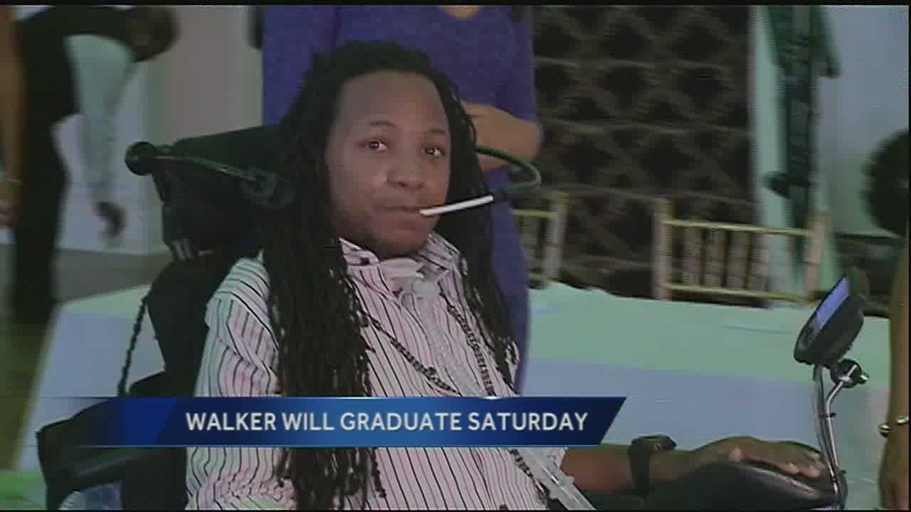 A year and a half after a paralyzing injury, Devon Walker will take the stage Saturday at the Tulane University Graduation.
