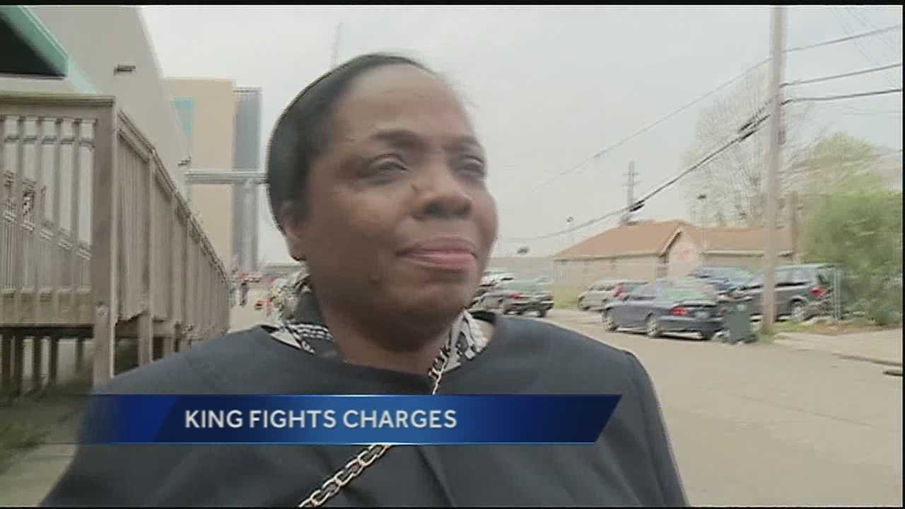 Yolanda King fights charges