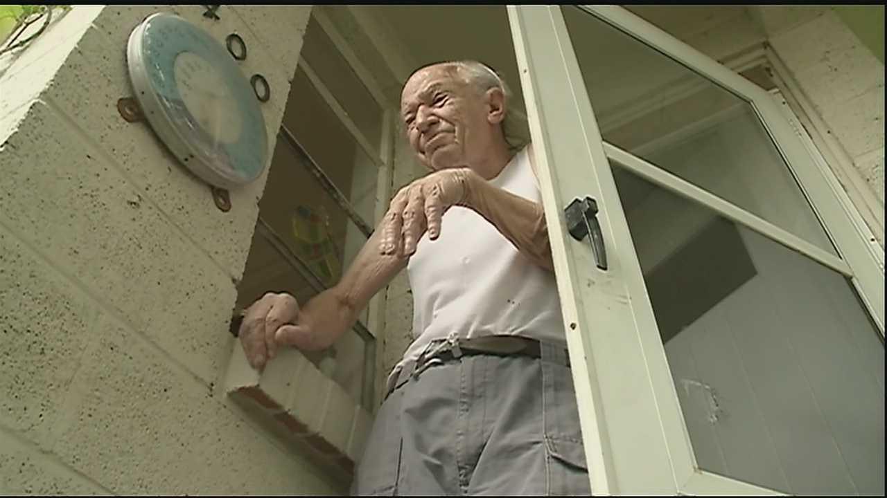 Elderly man beaten by burglar, police say